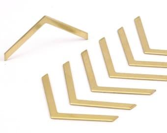 20 Raw Brass Chevrons (40x3x0.80mm) A0856--n633