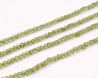 1 Strand Peridot 4Mm Gemstone Round Beads G196 T09