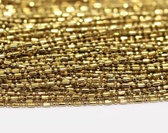 Ball Chain, Link Chain, Brass Chain, 5 M (1mm) Raw Brass Chain - ( Z087 )