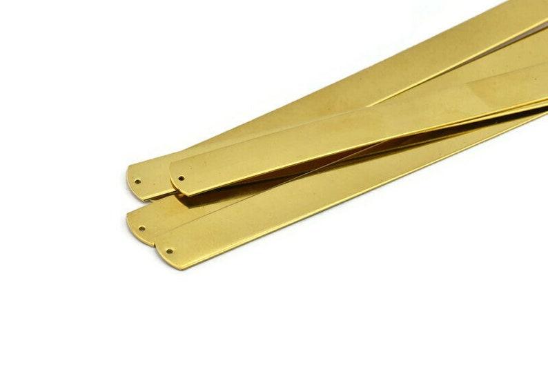 A1942 2 Raw Brass Bracelet Stamping Blank Bangles With 2 Holes Brass Bracelet Blank 15x160x0.80mm