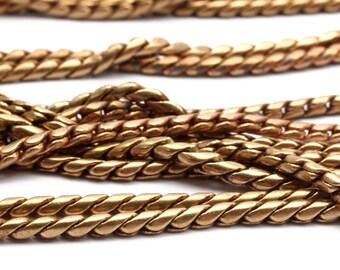 Red Brass Snake Chain, 2M Red Brass Snake Chain (2.2mm) Bs 1002