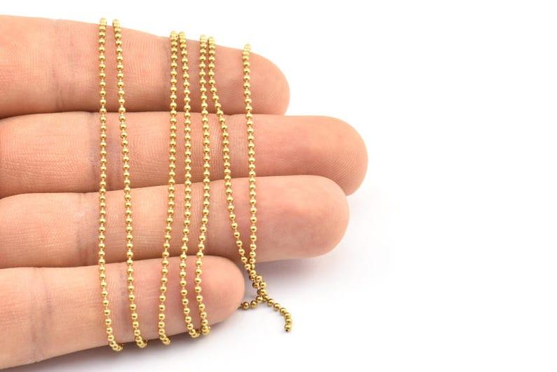 Brass Ball Chain Brs 3 Z019 1.5mm 90 M Raw Brass Ball Chain