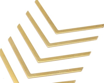 Tiny Chevron Charm, 30 Raw Brass Chevron Charms (60x3x0.80mm) A0862--N640