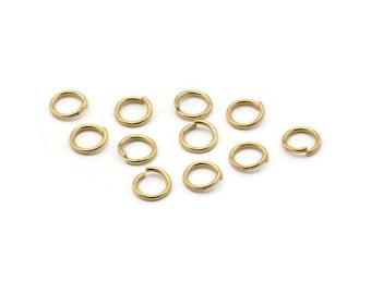 6mm Jump Rings - 250 Raw Brass Jump Rings (6x0.80mm) A0855