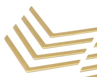 Brass Chevrons Necklace 12 Raw Brass Chevrons (50x3x0.80mm) D417--N634