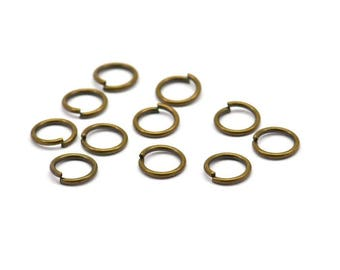8mm Jump Ring - 300 Antique Brass Jump Rings (8x1mm) A0378