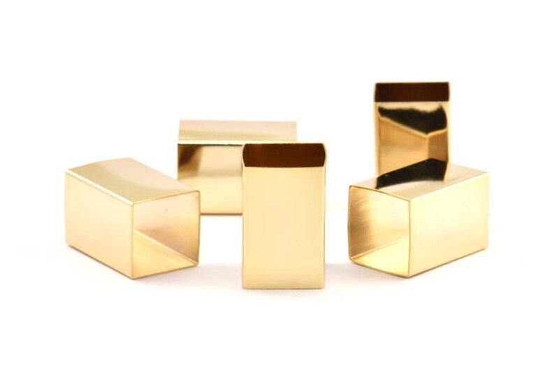 Gold Tube Beads Bs 1525 Q325 16x25mm 1 Gold Plated Huge Brass Square Tubes