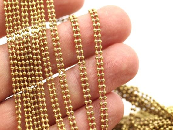 6 Feet RAW Brass Chains-Rolo 3mm 420C