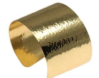 Hammered Gold Cuff Bracelet,  Wide Gold Cuff, Statement Gold Cuff, Gold Cuffs, Hammered Nu Gold Brass Cuff Bracelets