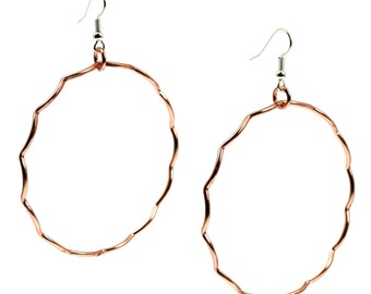 7 Year Anniversary Gift  Large Copper Hoop Earrings 7th Anniversary Gift For Her Seven Year Anniversary Gift Copper Anniversary Gifts