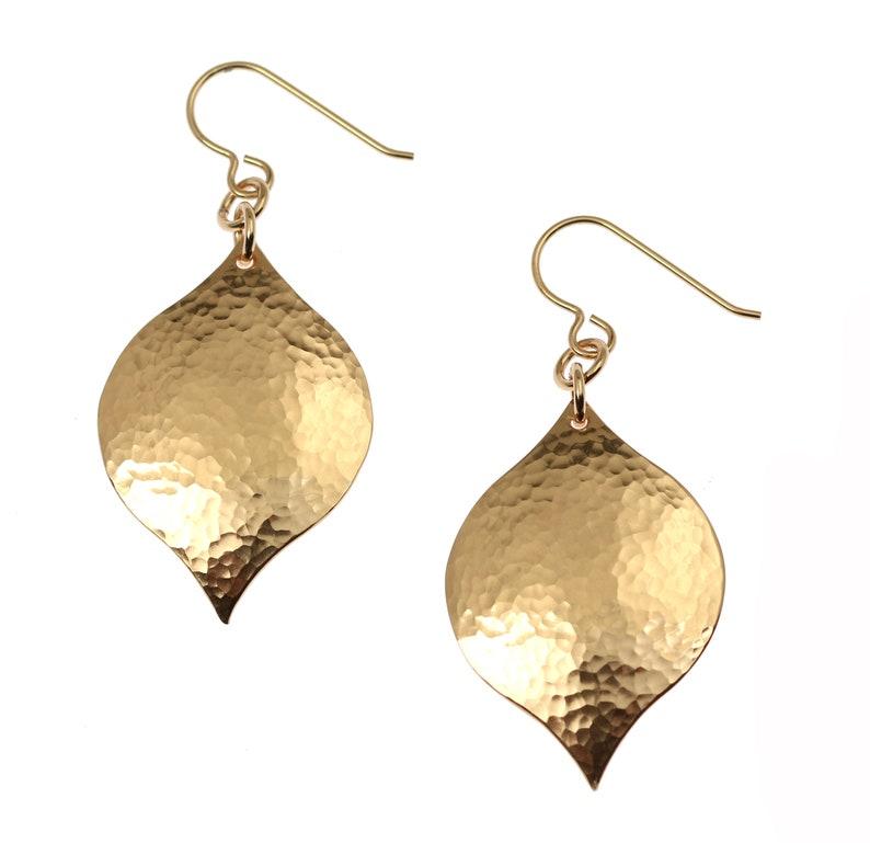 Hammered Bronze Marrakesh Drop Earrings Hammered Bronze image 0