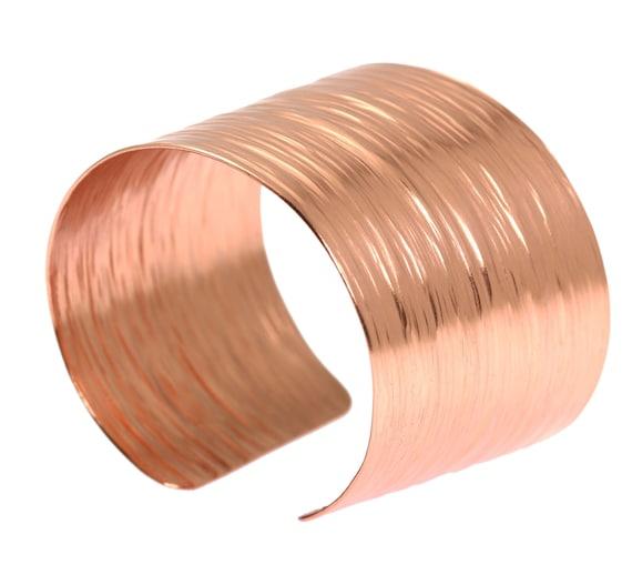 7 Year Anniversary Gift Copper Bark Cuff Bracelet 7th Etsy