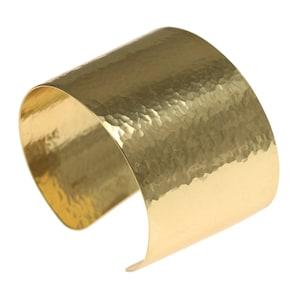 RSG687 15x160mm Rose Gold Plated Hammared Bangle Hammared Cuff Bracelet Cuff Bangle