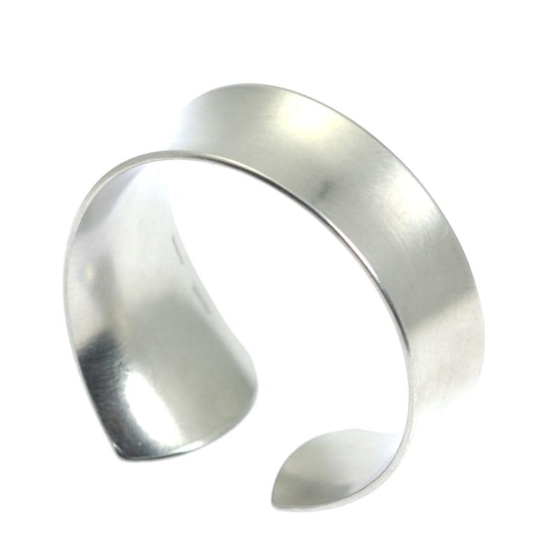 10 Year Anniversary Gift Brushed Aluminum Bangle Bracelet 10th image 0
