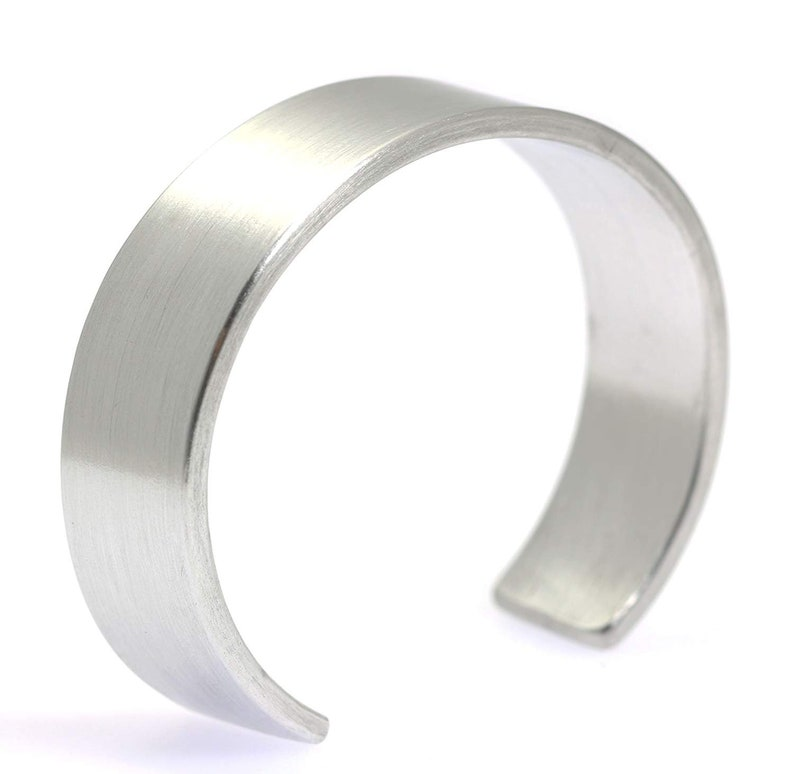 Mens Brushed Hypoallergenic Aluminum Cuff  Silver Tone image 0