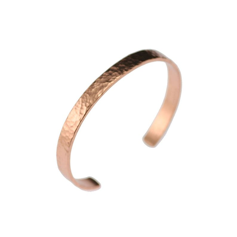 Thin Hammered Copper Cuff Bracelet  Hammered Copper Cuff  image 0