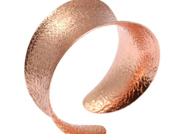 Anticlastic Copper Bangle Bracelet, Rose Gold Bangles, Wide Copper Bangles, Copper Bracelets, Copper Jewelry, 7th Anniversary Gift Ideas