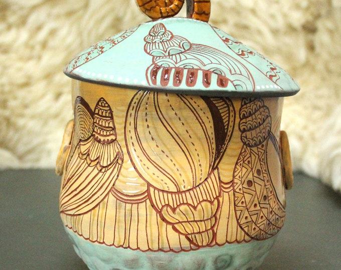 Seashell Ceramic Jar