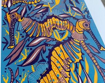 Weedy Sea Dragon, original art by Jenny Pope