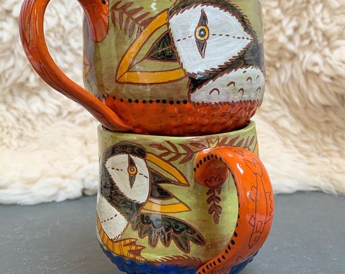 Set of 2 Puffin Mugs