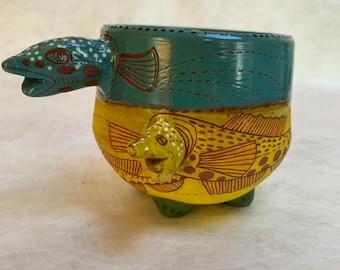 Two headed fish mug