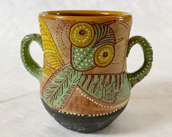 Praying Mantis Vase or two handled large mug