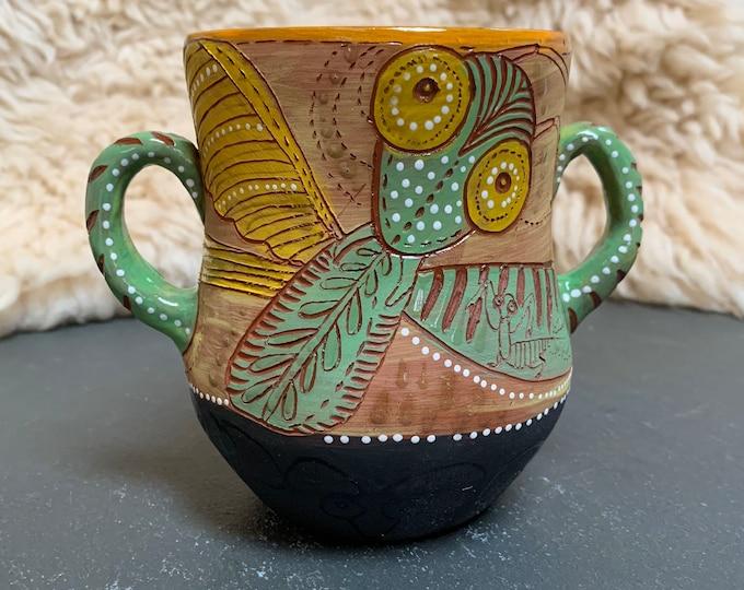 Praying Mantis Vase or two handled large mug