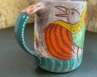 Bird of paradise mug #2