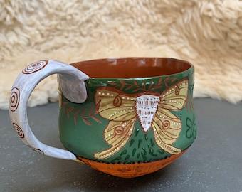 Luna Moth Deco Style Mug