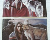 Native American Original Signature and Numbered Prints by Artist C.R. FULTZ Purchased in Oklahoma 18-1 4 quot x 12-1 4