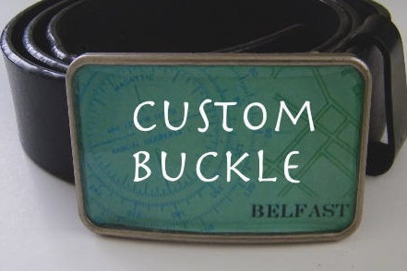 Custom Buckle-Vintage Charts Maps  Full Resined Surface image 0