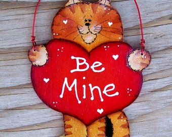 Be Mine Kitty Ornament