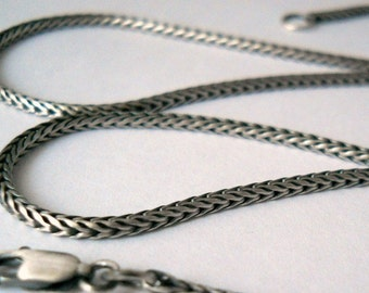 foxtail chain, sterling silver, finished chain, sturdy chain, silver chain, womens chain, unisex chain, mens chain, chain for pendant