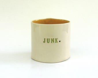 hand built porcelain vessel   ...   junk container  ...   multifunctional ceramic vessel