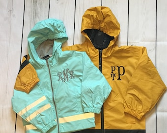 719b1449331 TODDLER and CHILDRENS Charles River Monogrammed Rain Jacket. Sizes 2T