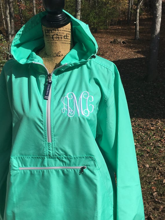 d8e50e2010b Adult monogrammed rain jacket pullover. Personalized