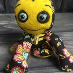 "10"" Bumble Bee baby doll moving eyes zip up tummy feed sack baby by Karen Knapp of Tindle Bears"