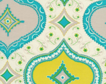 Blue Chandra Kumari Garden Medallion by Dena Designs - DF91 - Free Spirit Fabric- 100% Cotton Fabric - Quilting Fabric - Fabric by the Yard