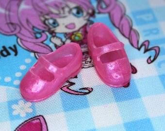 Licca Blythe Light Pink Shimmer Flat Mary Jane Doll shoes