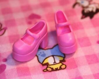 Blythe Pink Platform Mary Jane Doll shoes
