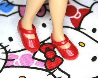 Blythe Cherry Red Cute Mary Jane Doll shoes