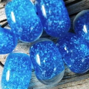 ClearGlitter Handmade Glass Lampwork Beads 11mm round focal filler functional art