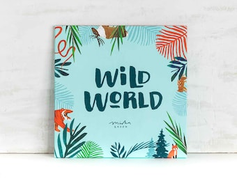 Wild World, Sustainably Printed Gift Wrap Suite by Misha Zadeh