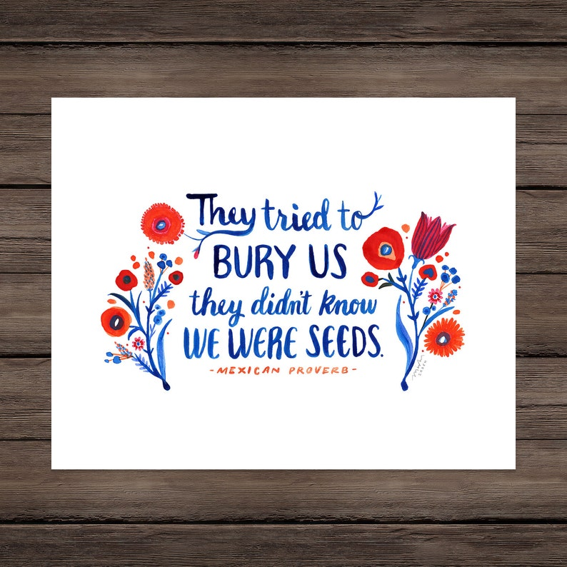 They Tried to Bury US They Didn't Know We Were Seeds image 0