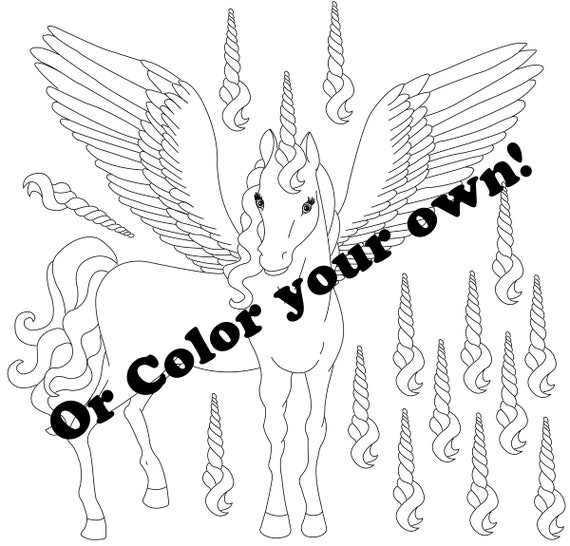 pink and rainbow alicorn winged unicorn pegasus party game etsy pink and rainbow alicorn winged unicorn pegasus party game coloring page activity favor for little girls
