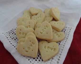 Heart LOVE Vanilla Mini Shortbread Cookies