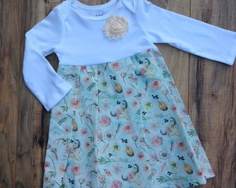 Boho Antler Empire Dress Ready to Ship Size 6-12 months