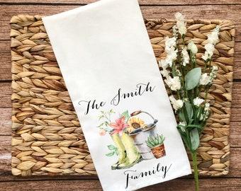 Personalized Gardening Decorative Flour Sack Towel