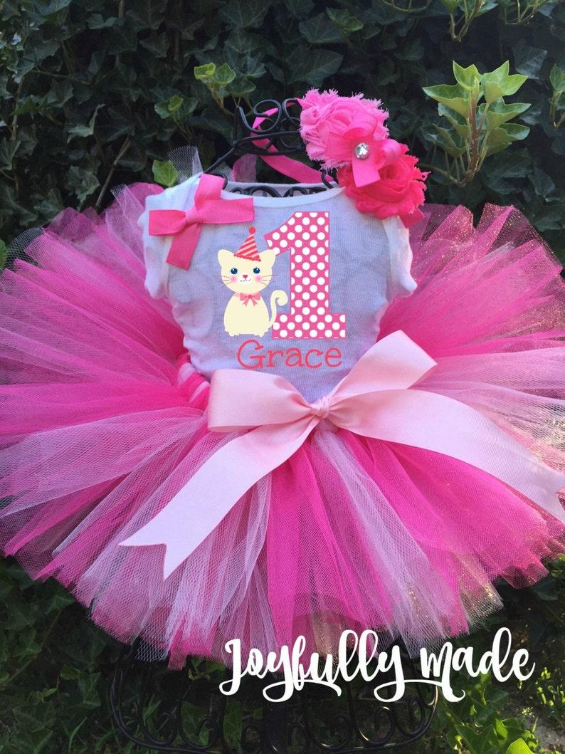 Infant Baby Girls Winnie The Pooh Tutu Bodysuit My 1st Birthday One-Piece