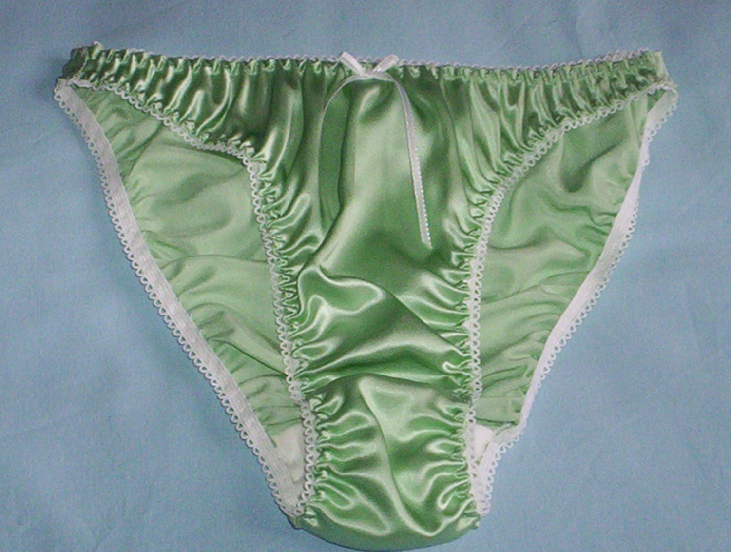 Mint green silk satin panties available in UK sizes 8 20  000dfb22a5db